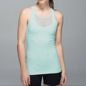 Lululemon Athletica Mesh with me Tank Mint Green